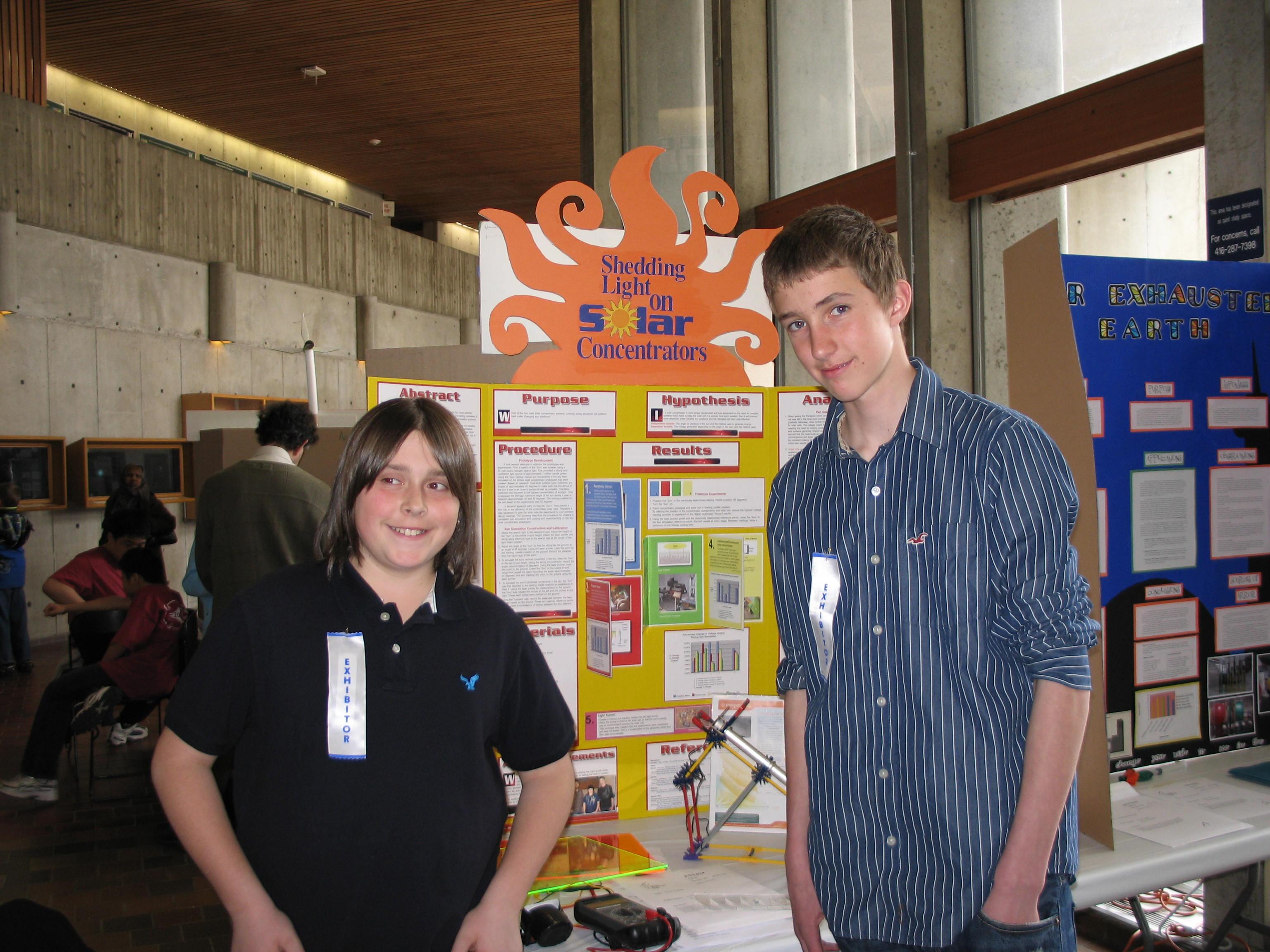Solar science fair projects